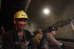 Κινεζικοί εργαζόμενοι ορυχείων Στοκ φωτογραφία με δικαίωμα ελεύθερης χρήσης