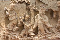 Κινεζικοί Θεοί που χαράζονται από τις κινεζικές πέτρες ύφους στοκ εικόνες με δικαίωμα ελεύθερης χρήσης