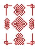 Κινεζικοί κόμβοι Edless καθορισμένοι στοκ εικόνες