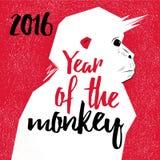Κινεζικοί νέοι πίθηκοι έτους Στοκ εικόνες με δικαίωμα ελεύθερης χρήσης