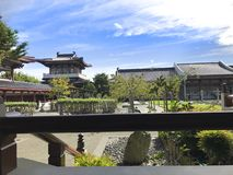 Κινεζικοί ναοί, κινεζικός κήπος στοκ εικόνα