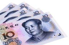 Κινεζικοί λογαριασμοί νομίσματος Yuan Στοκ εικόνα με δικαίωμα ελεύθερης χρήσης