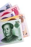 Κινεζικοί λογαριασμοί νομίσματος Yuan Στοκ εικόνες με δικαίωμα ελεύθερης χρήσης