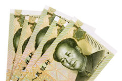 Κινεζικοί λογαριασμοί νομίσματος Yuan Στοκ Φωτογραφία