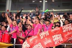 Κινεζικοί οπαδοί ποδοσφαίρου Στοκ εικόνα με δικαίωμα ελεύθερης χρήσης