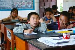 Κινεζικοί σπουδαστές σχολείων πρωτοβάθμιας εκπαίδευσης Στοκ φωτογραφία με δικαίωμα ελεύθερης χρήσης