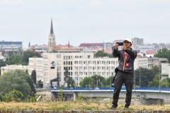 Κινεζικοί τουρίστες στη Σερβία Στοκ Εικόνα