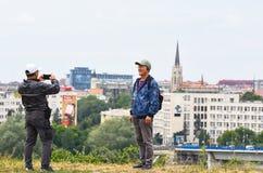 Κινεζικοί τουρίστες στη Σερβία Στοκ Φωτογραφίες