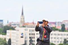 Κινεζικοί τουρίστες στη Σερβία Στοκ Εικόνες