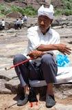 κινεζικός αγρότης παλαιό&si Στοκ Φωτογραφία