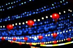 Κινεζικός λαμπτήρας θαμπάδων και μπλε φως Στοκ εικόνες με δικαίωμα ελεύθερης χρήσης