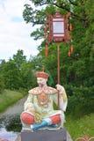 Κινεζικός αριθμός στο παραδοσιακό φόρεμα σε Tsarskoe Selo Στοκ φωτογραφία με δικαίωμα ελεύθερης χρήσης