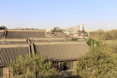 Κινεζικός αρχαίος ο κατοικημένος στη xian αρχαία πόλη Στοκ Εικόνα