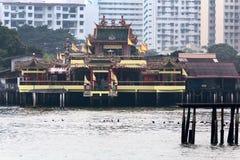 Κινεζικός βουδιστικός ναός της Boo Thean Kuanyin Hean στους λιμενοβραχίονες γενιάς, Τζωρτζτάουν, Μαλαισία, Penang Μετάφραση: Hean Στοκ Φωτογραφία