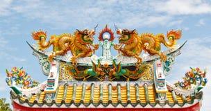 κινεζικός διπλός ναός στ&epsilo Στοκ Εικόνα