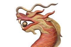 Κινεζικός δράκος, ξύλινη γλυπτική Στοκ εικόνες με δικαίωμα ελεύθερης χρήσης