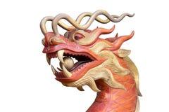 Κινεζικός δράκος, ξύλινη γλυπτική Στοκ Φωτογραφίες