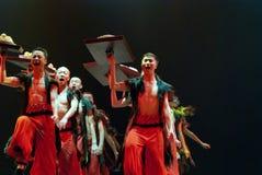 Κινεζικός εθνικός χορευτής Στοκ εικόνες με δικαίωμα ελεύθερης χρήσης