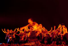 Κινεζικός εθνικός χορός Στοκ φωτογραφία με δικαίωμα ελεύθερης χρήσης
