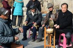 Κινεζικός ερασιτέχνης μουσικός στο πάρκο Στοκ φωτογραφία με δικαίωμα ελεύθερης χρήσης
