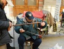 Κινεζικός ερασιτέχνης μουσικός Στοκ Εικόνες