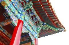 κινεζικός ζωηρόχρωμος ναός Στοκ εικόνες με δικαίωμα ελεύθερης χρήσης