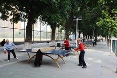 κινεζικός ηλικιωμένος άνθρωπος που παίζει την επιτραπέζια αντισφαίριση Στοκ φωτογραφίες με δικαίωμα ελεύθερης χρήσης