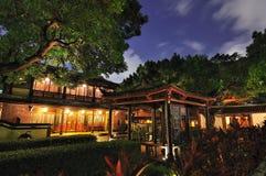 Κινεζικός κήπος και νύχτα Στοκ Φωτογραφία