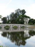 κινεζικός κήπος Σινγκαπούρη γεφυρών Στοκ εικόνα με δικαίωμα ελεύθερης χρήσης