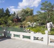 Κινεζικός κήπος στο βοτανικό κήπο του Μόντρεαλ στοκ εικόνες