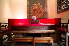 Κινεζικός καναπές Στοκ εικόνες με δικαίωμα ελεύθερης χρήσης