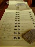 Κινεζικός κατάλογος των υπογραφών Στοκ Φωτογραφίες