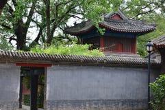 Κινεζικός ναός κήπων τοπίων βουνών Στοκ Φωτογραφία