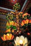 κινεζικός ναός λωτού λαμπτήρων Στοκ Εικόνα