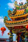 Κινεζικός ναός με έναν δράκο Στοκ εικόνες με δικαίωμα ελεύθερης χρήσης
