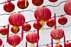 κινεζικός ναός της Λουμπούρ φαναριών της Κουάλα hou thean Στοκ Φωτογραφία