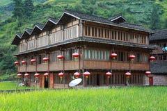 κινεζικός ξύλινος οικο&de στοκ φωτογραφίες