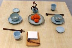 Κινεζικός παραδοσιακός να δειπνήσει πίνακας Στοκ Φωτογραφία