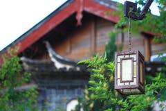 Κινεζικός παραδοσιακός χαρακτηριστικός λαμπτήρας Στοκ Εικόνα