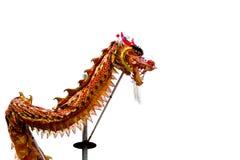 Κινεζικός δράκος κατά τη διάρκεια του έτους του σεληνιακού φιδιού Στοκ Εικόνα