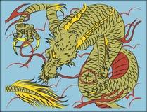 Κινεζικός δράκος παραδοσιακός Στοκ φωτογραφία με δικαίωμα ελεύθερης χρήσης