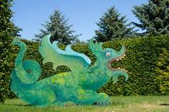 κινεζικός δράκος πράσινο& Στοκ εικόνες με δικαίωμα ελεύθερης χρήσης