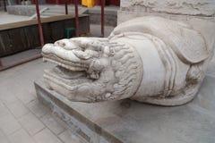 Κινεζικός δράκος στο ναό Στοκ εικόνες με δικαίωμα ελεύθερης χρήσης