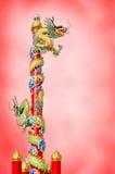 Κινεζικός δράκος στο ploe Στοκ Εικόνα