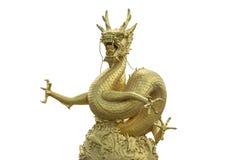κινεζικός δράκος χρυσός Στοκ Φωτογραφίες