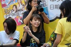 Κινεζικός ραδιοσταθμός της Σιγκαπούρης Mediacorp deejays Στοκ φωτογραφίες με δικαίωμα ελεύθερης χρήσης