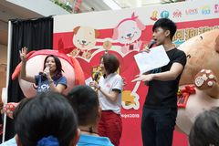 Κινεζικός ραδιοσταθμός της Σιγκαπούρης Mediacorp DJs Στοκ Εικόνες