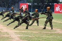 Κινεζικός στρατός στη φρουρά Χονγκ Κονγκ Στοκ εικόνες με δικαίωμα ελεύθερης χρήσης