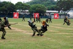Κινεζικός στρατός στη φρουρά Χονγκ Κονγκ Στοκ εικόνα με δικαίωμα ελεύθερης χρήσης