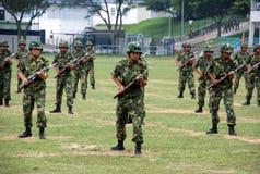 Κινεζικός στρατός στη φρουρά Χονγκ Κονγκ Στοκ Φωτογραφία